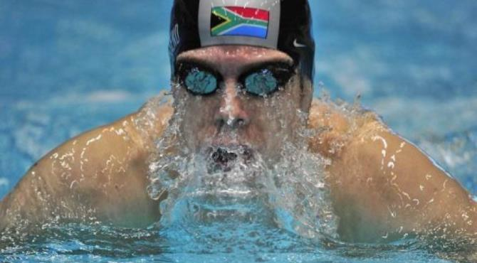 Darian Townsend had to settle for second place in the 200 metres individual medley final.  By John Macdougall (AFP/File)