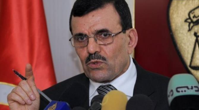Tunisia's prime minister-designate Ali Larayedh speaks at a press conference on February 26, 2013 in Tunis.  By Fethi Belaid (AFP/File)