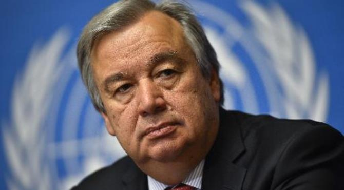 United Nations High Commissioner for Refugees Antonio Guterres attends a press conference on May 14, 2014 in Geneva.  By Fabrice Coffrini (AFP/File)
