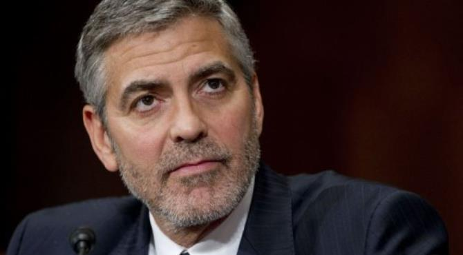 US actor George Clooney testifies on Sudan and South Sudan before the Senate Foreign Relations Committee.  By Saul Loeb (AFP)