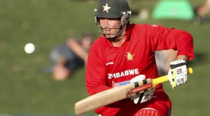 Zimbabwe cricket captain Brendan Taylor.  By John Cowpland (AFP/File)