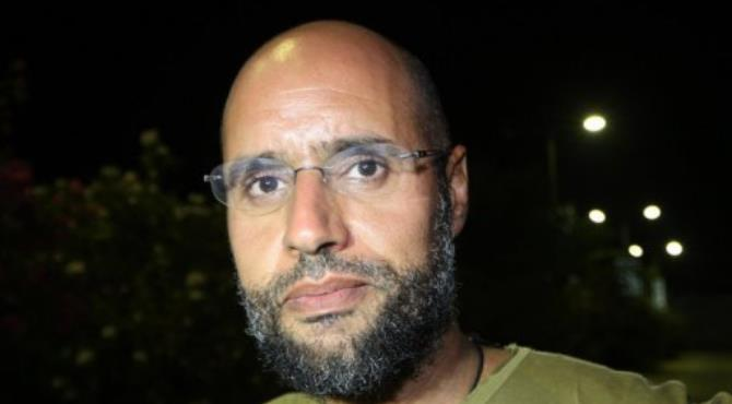 Seif al-Islam, the detained son of slain dictator Moamer Kadhafi, pictured in 2011.  By Imed Lamloum (AFP/File)
