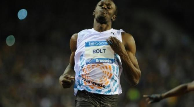 Jamaica's Usain Bolt is the defending 100m and 200m champion from Beijing.  By John Thys (AFP/File)