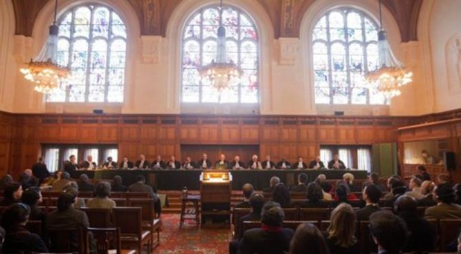 The International Court of Justice at the Hague holds a public hearing concerning Hissene Habre in March 2012.  By Evert-Jan Daniels (AFP/ANP/File)