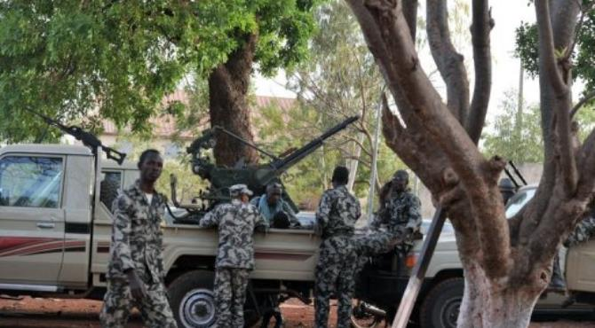 Clashes have been reported at Mali's national TV and radio station and at the garrison town near the capital Bamako.  By Issouf Sanogo (AFP/File)