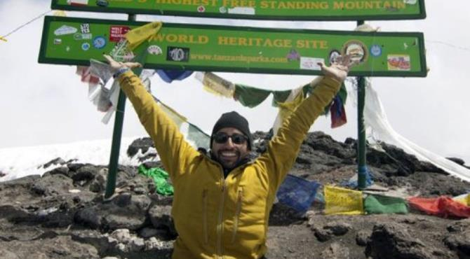 Double amputee Spencer West after ascending Mount Kilimanjaro.  By  (AFP/Free the Children)