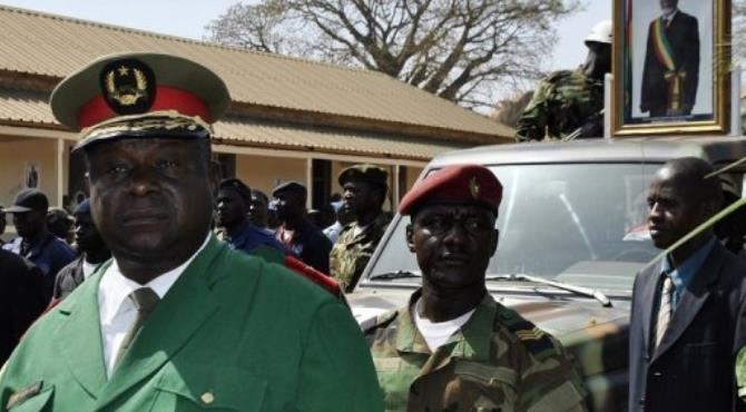 Army chief of staff General Antonio Indjai, left, led the coup.  By Mamadu Alfa Balde (AFP/File)