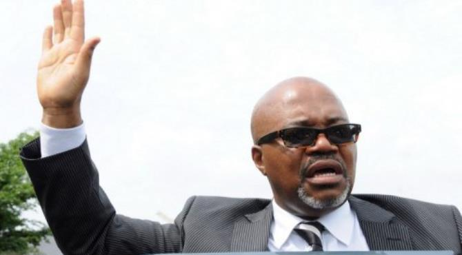 Andre Mba Obame, opposition leader and self-declared president of Gabon.  By Wils Yanick Maniengui (AFP/File)