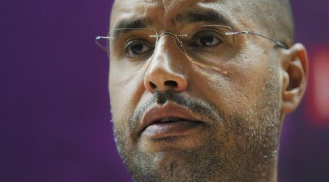 Seif al-Islam in 2010.  By Ben Stansall (AFP/File)