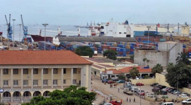 A general view shows the port of Luanda.  By Issouf Sanogo (AFP/File)
