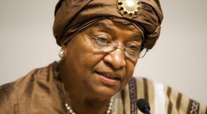 Sirleaf said she would get a full report from her defense minister during a national security meeting Thursday.  By Jim Watson (AFP/File)