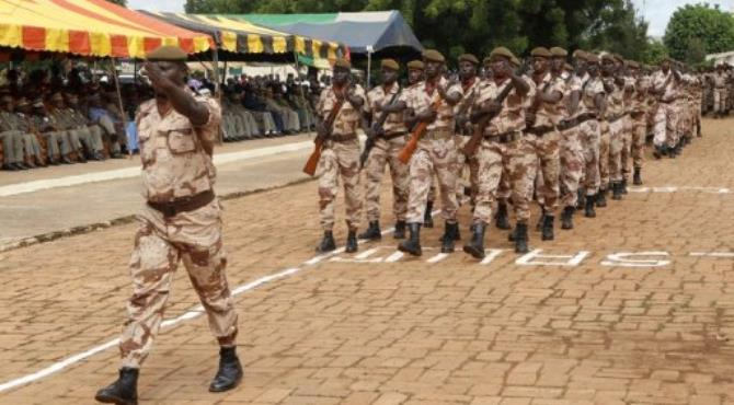 Soldiers march during the independence day celebrations in Bamako on September 22.  By Habibou Kouyate (AFP/File)