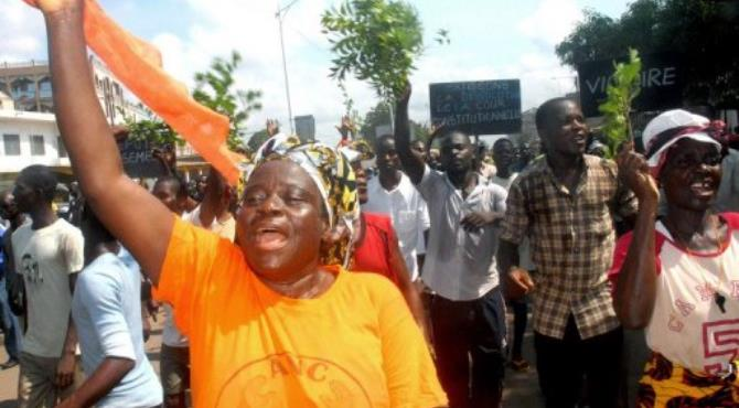 Protesters in Lome in November.  By Emile Kouton (AFP/File)