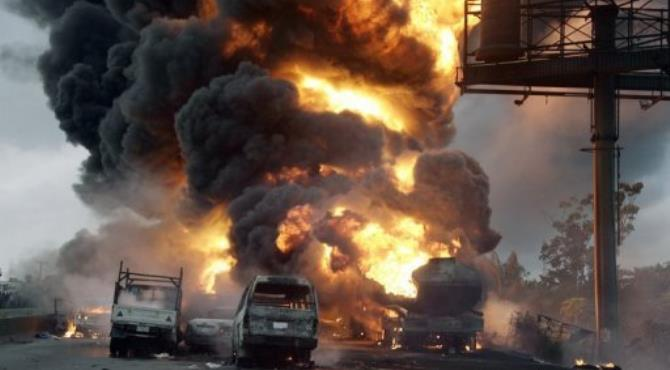 Many of those killed in a tanker blaze in Nigeria were motorcycle taxi owners.  By Pius Utomi Ekpei (AFP)