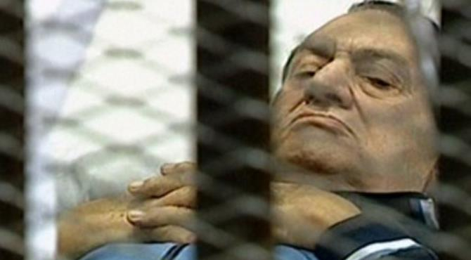 Mubarak's lawyer claims he has stomach cancer and went into a coma last month.  By - (AFP/EGYPTIAN TV/File)