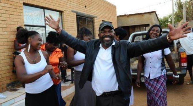 None of Chauke's wives work, and they and all his 26 children live together.  By Alexander Joe (AFP)