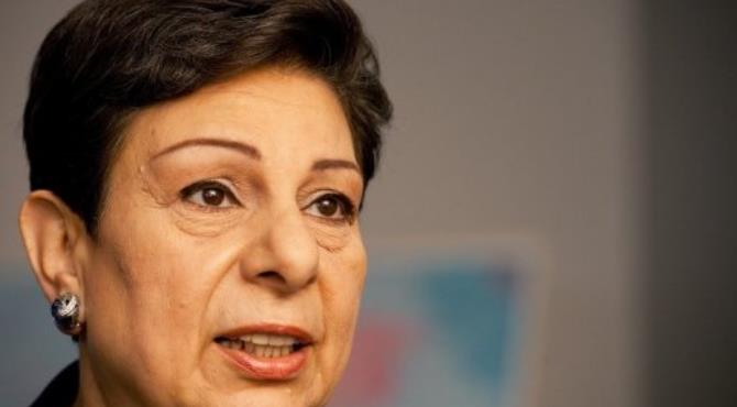 Senior PLO official Hanan Ashrawi is pictured in 2011.  By Paul J. Richards (AFP/File)