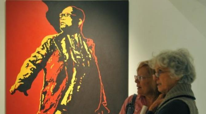 The court case over the controversial painting was postponed until Thursday.  By ALEXANDER JOE (AFP/File)