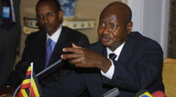 Museveni (right) strongly backed Kagame through Rwanda's 1990-1994 civil war.  By Anna Zieminski (AFP/File)