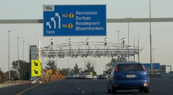 The tolls are planned for 185 kilometres (115 miles) of major highways around Johannesburg and Pretoria.  By Alexander Joe (AFP/File)