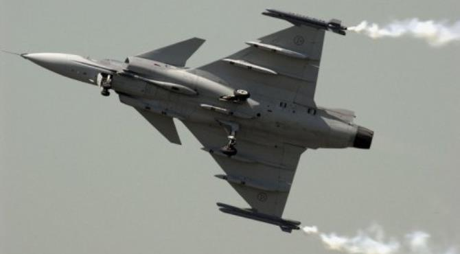 The case concerns a 1999 deal for 26 JAS Gripen fighter jets.  By Frederick Florin (AFP/File)
