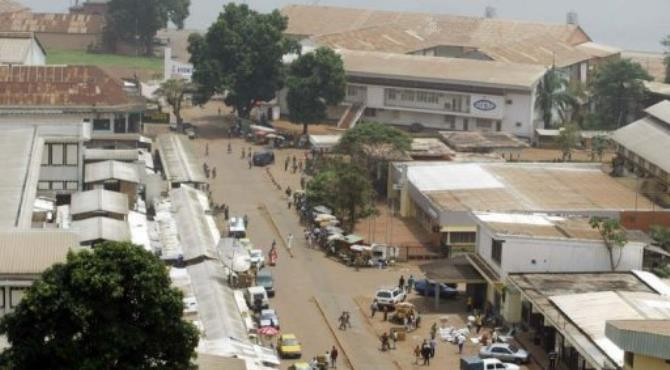 Downtown Bangui, the city where Mararv and his employees are being held after being charged with the murders.  By Desirey Minkoh (AFP/File)