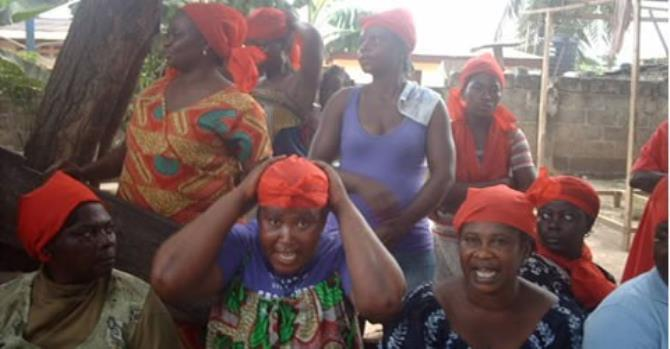 Archive: Some market women protesting in Accra