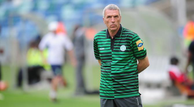 Ernst Middendorp, coach of Bloemfontein Celtic during the Absa Premiership 2013/14 match between AmaZulu and Bloemfontein Celtics at the Moses Mabhida Stadium in Durban on the 10th November 2013©Sabelo Mngoma/BackpagePix