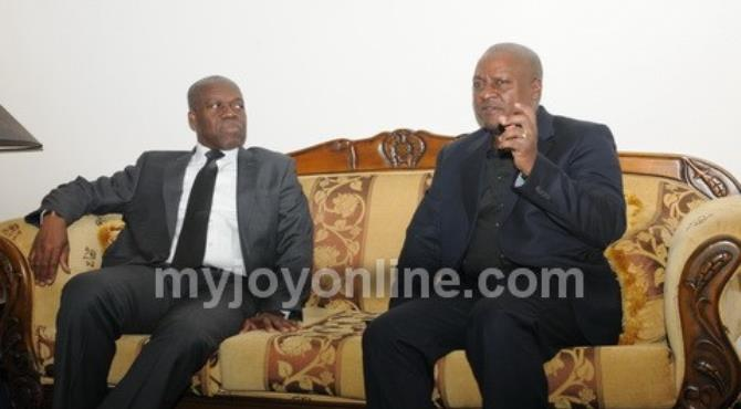 The Vice President Amissah-Arthur with President John Mahama