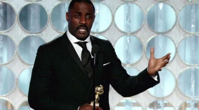 Elba won the Golden Globe for his portrayal of DCI Luther.