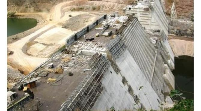 The Bui Dam under construction