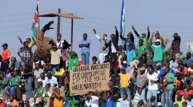 Zambian fans mock Ghana ahead of their clash in September