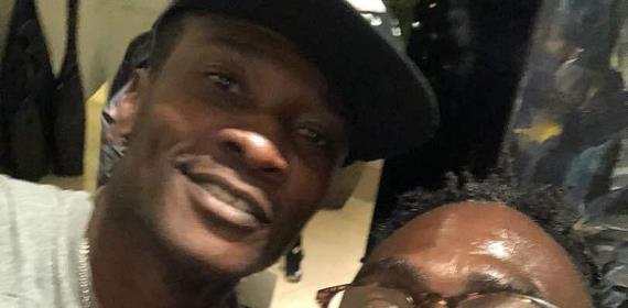 Countryman Songo Unite With Asamoah Gyan In Ethiopia