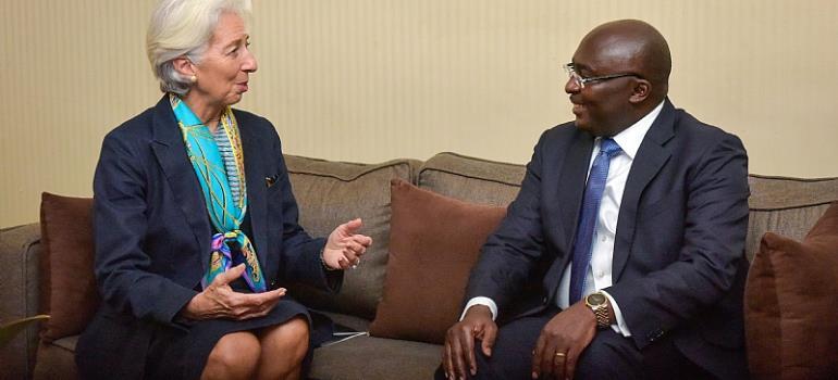 Mrs Christine Lagarde and Dr Mahamudu Bawumia