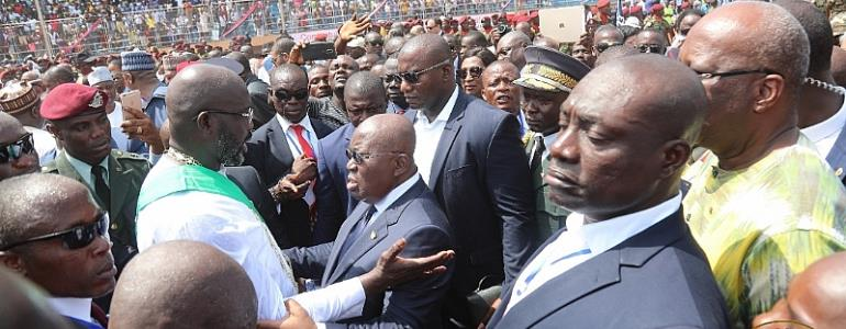 Akufo-Addo Lauds Liberia's Peaceful Transition After George Weah's Victory