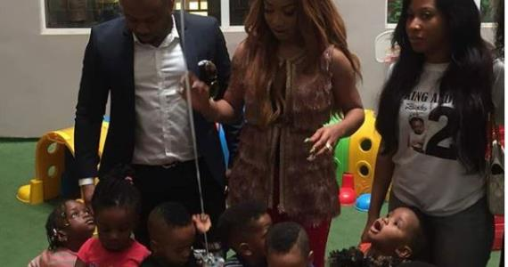 Drama: Olakunle Churchill Releases Exclusive Photos of himself with Actress, Tonto Dikeh