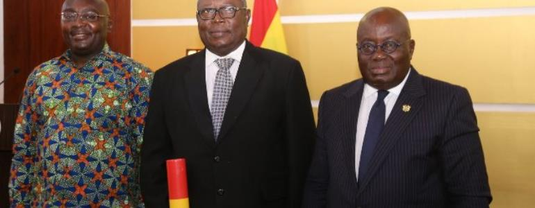 What Akufo-Addo Said At Amidu's Swearing In