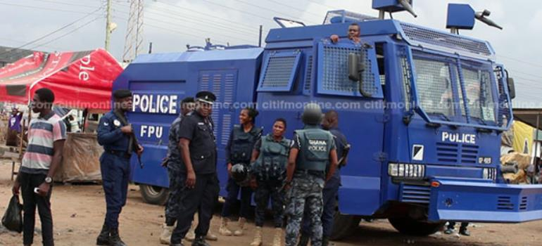 Police Tightens Security At NDC Presidential Primary Today