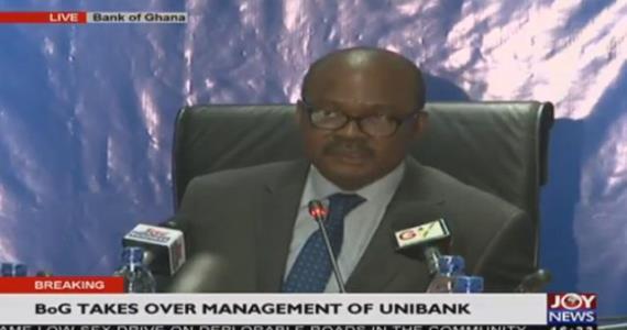 Bank of Ghana Takes Over Unibank