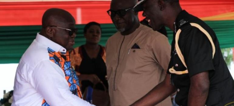 AKufo-Addo with COP Dampare at this year's WASSA