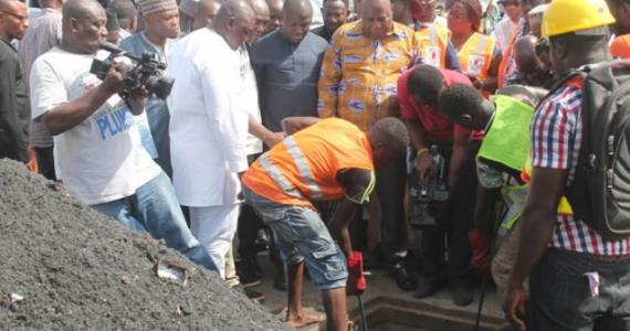 Accra Mayor inspects desilting of drains along flood prone areas