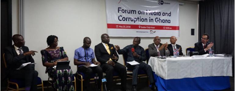 Panelists From Left To Right: Mr. Zakaria Tanko, Mrs. Beauty Nartey, Manasseh Awuni Azure, Mr.William Nyarko, Mr. Suleimana Braimah