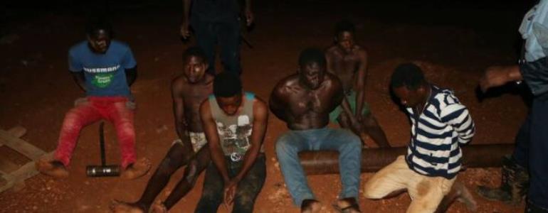 18 Galamseyers Busted At Manso Nkwanta