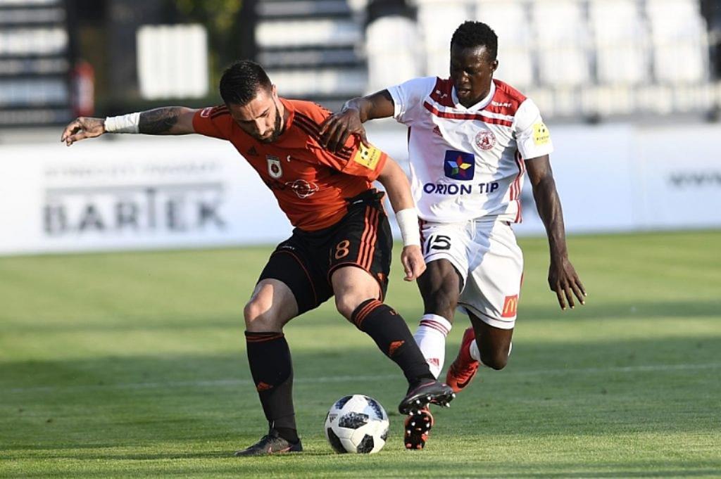 Ghanaian striker Osman Bukari scores as AS Trencin lose to FC ViOn Zlaté Moravce