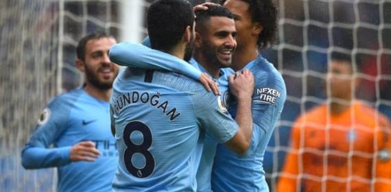 Mahrez Double Caps Five-Star Man City's Rout Of Cardiff