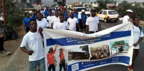 Rotary Club Holds Walk To Support Child Education