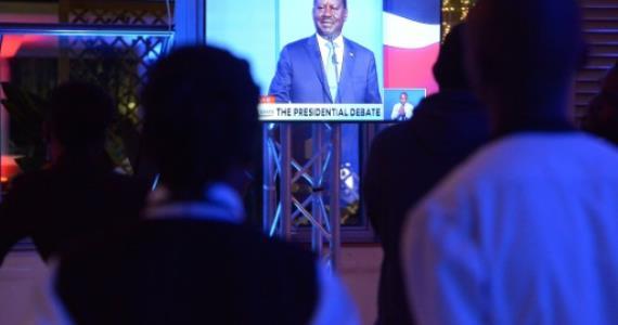 Kenyan president skips poll debate, gives rival the floor