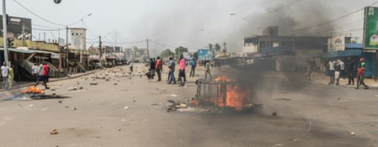 A previous protest in Togo capital Lome, which has seen anti-government marches nearly every week since August.  By YANICK FOLLY (AFP/File)
