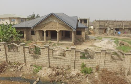 uncompleted 4 bedroom for sale at east legon