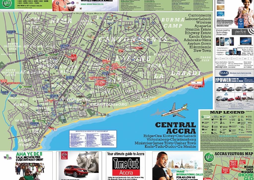 Glo Distributes Accra Visitors Map